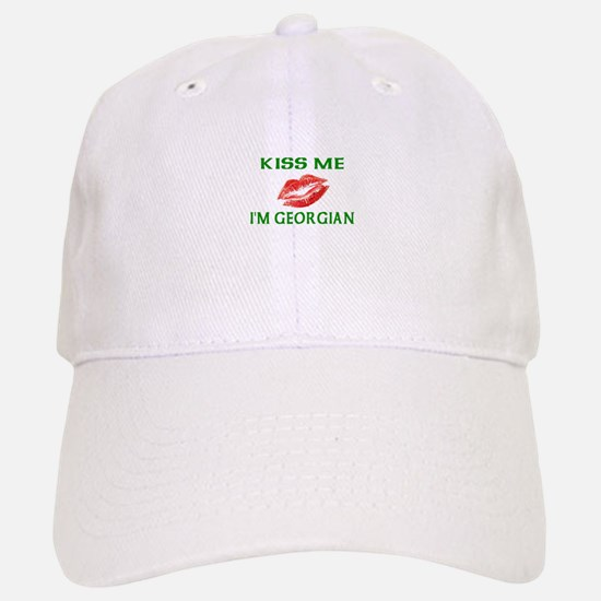 Kiss Me I'm Georgian Baseball Baseball Cap