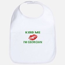 Kiss Me I'm Georgian Bib