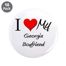 "I Love My Georgia Boyfriend 3.5"" Button (10 pack)"