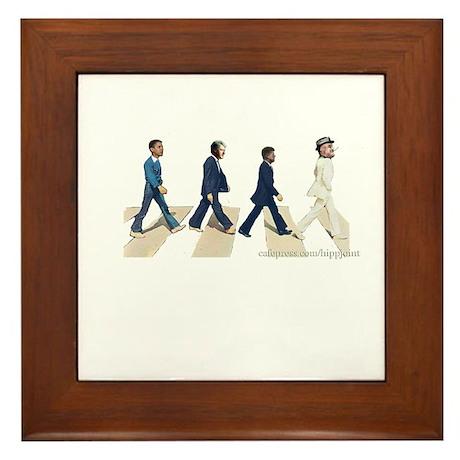 FDR,JFK,Clinton,Obama Framed Tile