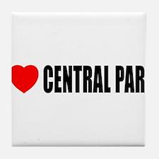 I Love Central Park Tile Coaster
