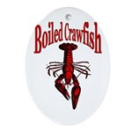 Boiled Crawfish Oval Ornament