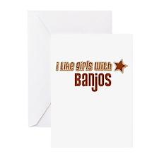 I Like Girls with Banjos Greeting Cards (Pk of 10)