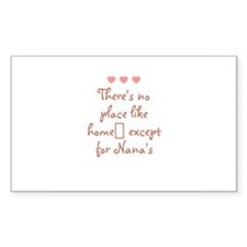 There's no place like home e Sticker (Rectangular
