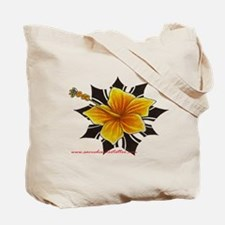 hybiscus with iban sun Tote Bag