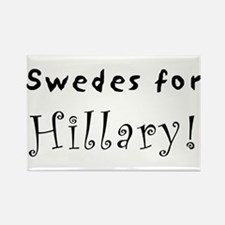 Rectangle Magnet - Swedes for Hillary