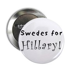 "2.25"" Button - Swedes for Hillary"
