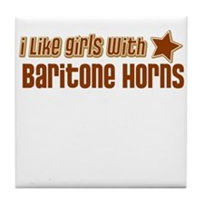 I Like Girls with Baritone Ho Tile Coaster