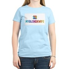 MYBLONDEWIFE Products Women's Pink T-Shirt