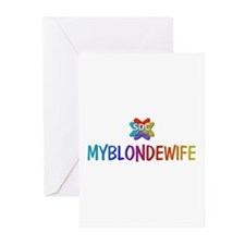 MYBLONDEWIFE Products Greeting Cards (Pk of 10