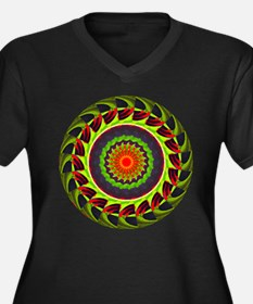 Kaleidoscope 00025 Women's Plus Size V-Neck Dark T