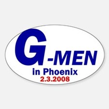 G-Men Oval Decal