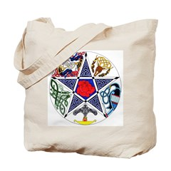 Celtic Pentagram Tote Bag