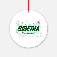 Siberia: Cold But Fun! Ornament (Round)