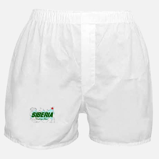 Siberia: Cold But Fun! Boxer Shorts