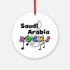Saudi Arabia Rocks Ornament (Round)