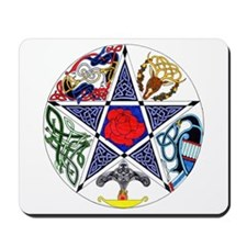 Celtic Pentagram Mousepad