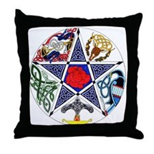 Celtic Pentgram Throw Pillow