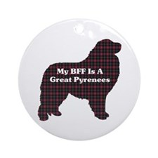 BFF Great Pyrenees Ornament (Round)