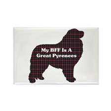 BFF Great Pyrenees Rectangle Magnet (10 pack)