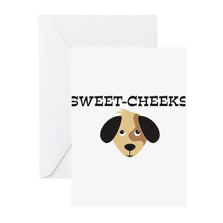 SWEET-CHEEKS (dog) Greeting Cards (Pk of 10)