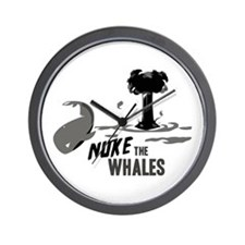 Nuke the Whales Wall Clock
