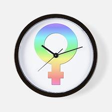 Pastel Female Symbol Unique Wall Clock