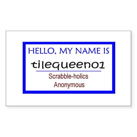 Scrabble Tile Queen Rectangle Sticker