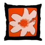 Flower Throw Pillow (Orange)