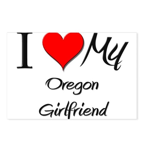I Love My Oregon Girlfriend Postcards (Package of