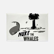 Nuke the Whales Rectangle Magnet