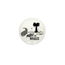 Nuke the Whales Mini Button (10 pack)