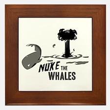 Nuke the Whales Framed Tile