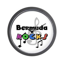 Bermuda Rocks Wall Clock