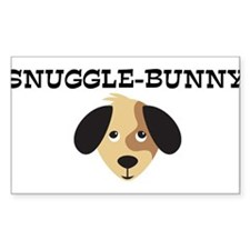SNUGGLE-BUNNY (dog) Rectangle Decal