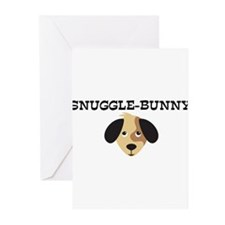 SNUGGLE-BUNNY (dog) Greeting Cards (Pk of 10)