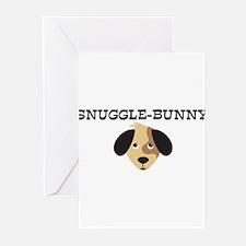 SNUGGLE-BUNNY (dog) Greeting Cards (Pk of 10)