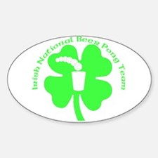 Irish National Beer Pong Team Oval Decal