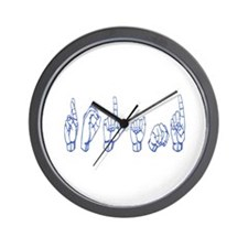 Your name in Sign Langauge Wall Clock