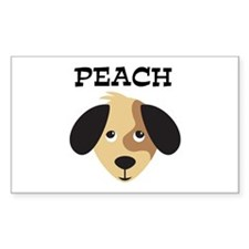 PEACH (dog) Rectangle Decal