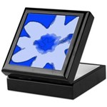 Flower Keepsake Box (Blue)
