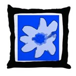 Flower Throw Pillow (Blue)