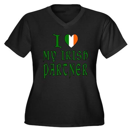 Love My Irish Partner Women's Plus Size V-Neck Dar