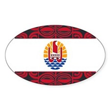 tahiti pride Oval Decal