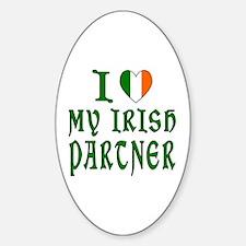 I Love My Irish Partner Oval Decal