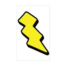 Lightning Bolt Rectangle Decal