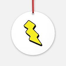 Lightning Bolt Ornament (Round)