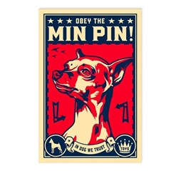Obey the Min Pin! USA Postcards (Pack of 8)