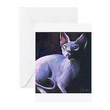 Sphynx Cat #13  Greeting Cards (Pk of 10)