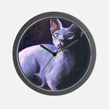 Sphynx Cat #13  Wall Clock